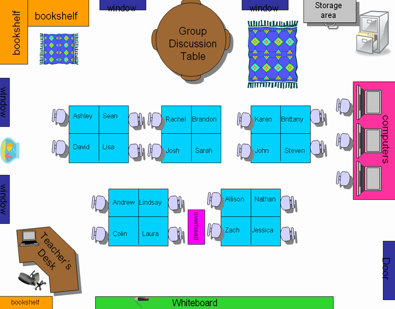 Chart Classroom Seating Chart Template