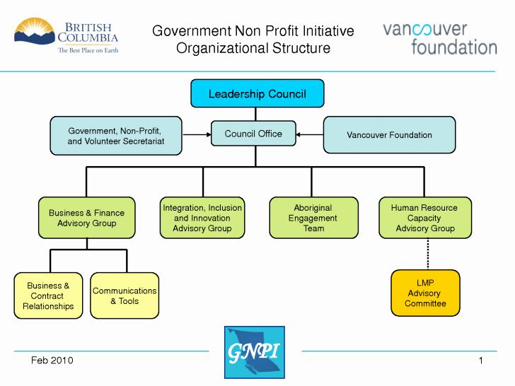 Chart Non Profit organizational Chart
