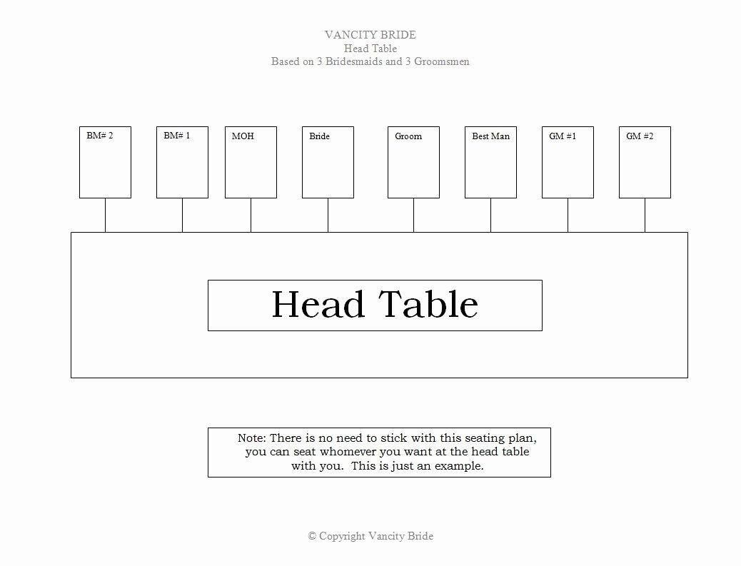 Chart Seating Chart Template