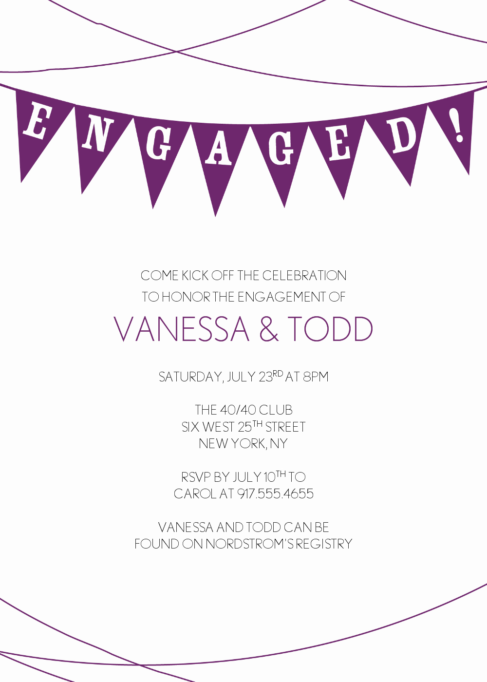 Cheap Engagement Party Invitations Template