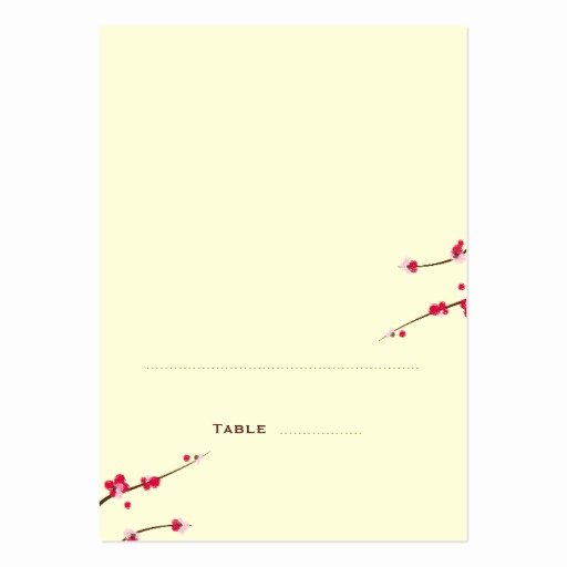 Cherry Blossom Folded Place Cards Business Card Templates