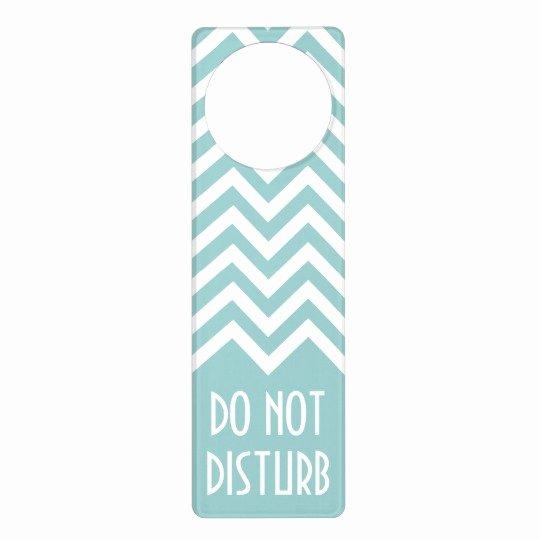 Chevron Pattern Door Hanger Do Not Disturb Sign