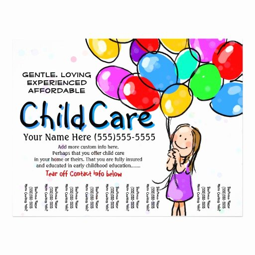 Child Care Babysitting Day Care Promo Flyer
