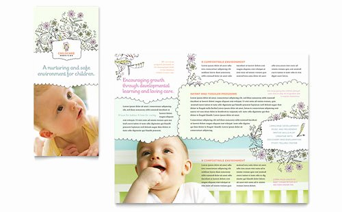 Child Care Brochures & Flyers Word & Publisher Templates