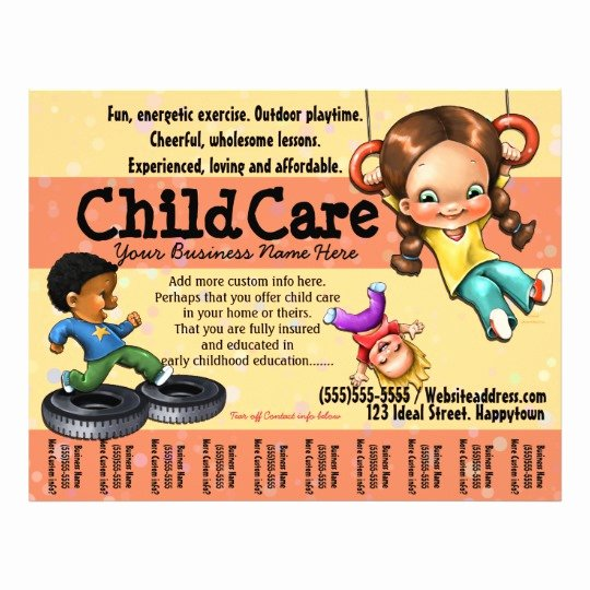 Child Care Day Care Customizable Template Flyer