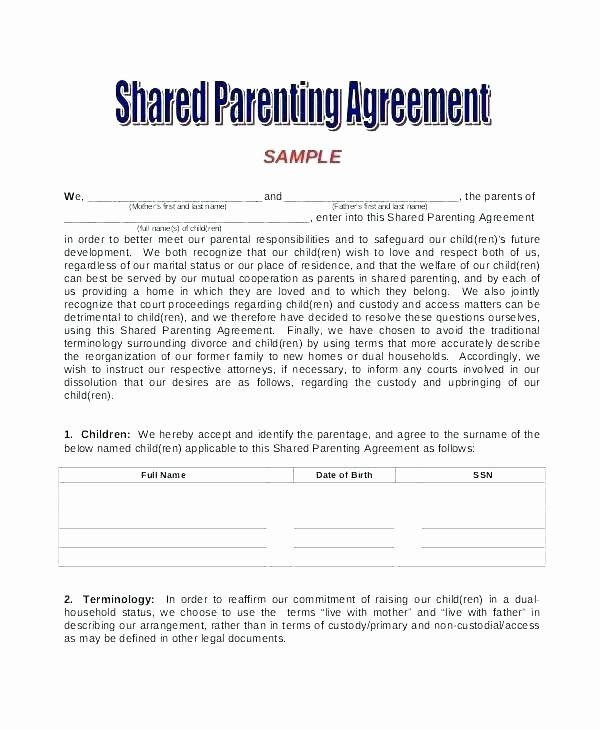 Child Custody Letter Template Support Temporary Example