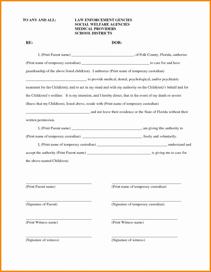 Child Relocation Agreement Template