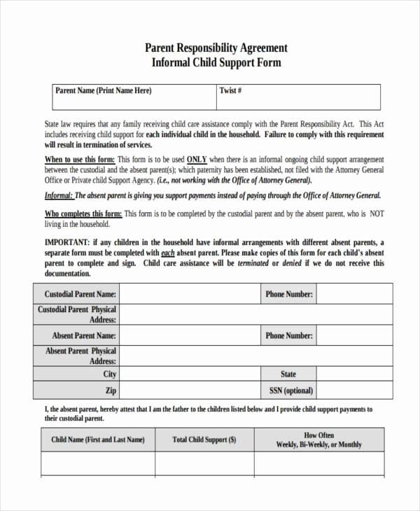Child Support Agreement Template Novasatfm