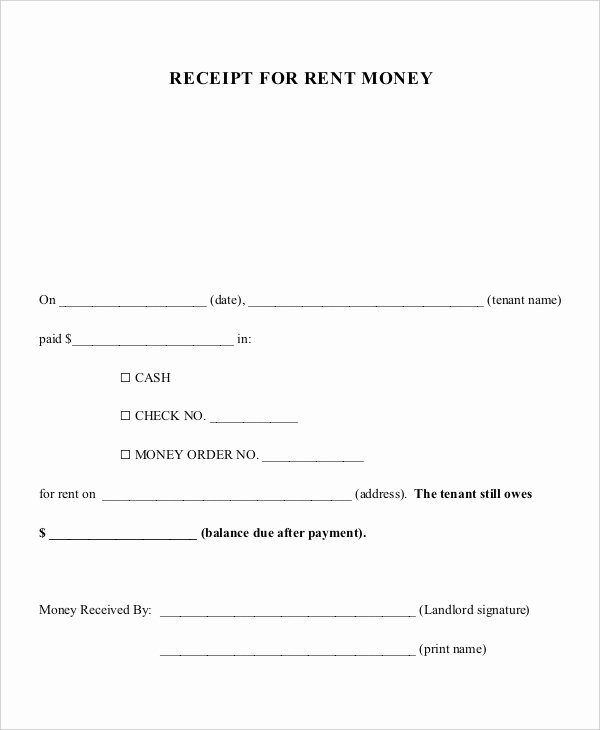 Child Support Payment Receipt Template 15 Receipt