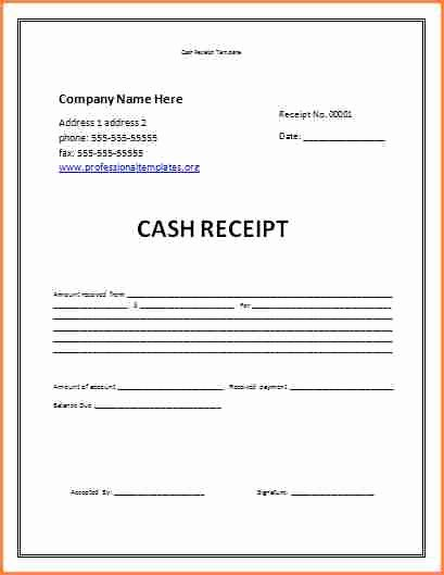 Child Support Payment Receipt Template Child Support