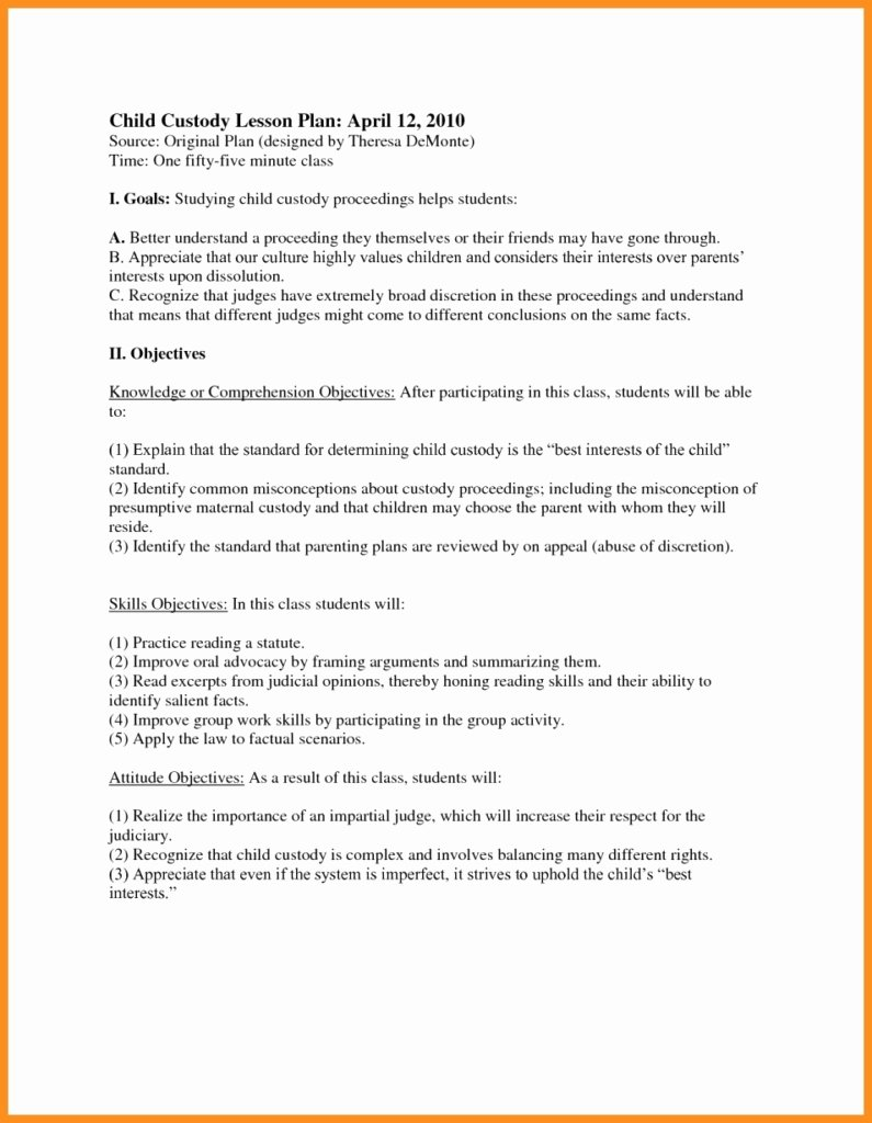 Child Visitation Agreement Letter Best 45 Best Gallery