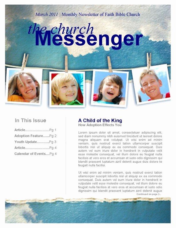 Children Church Newsletter Template