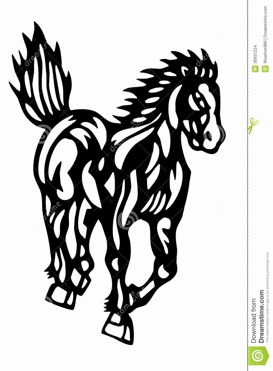 Chinese Paper Cut Horse Stock Image