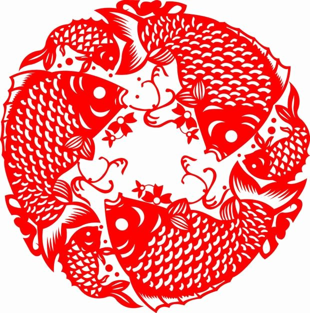 Chinese Paper Cutting Fish Chinese Paper Cutting