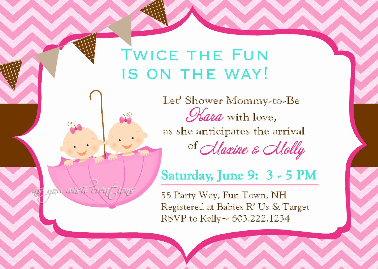 Choose the Best Twin Baby Shower Invitation Ideas