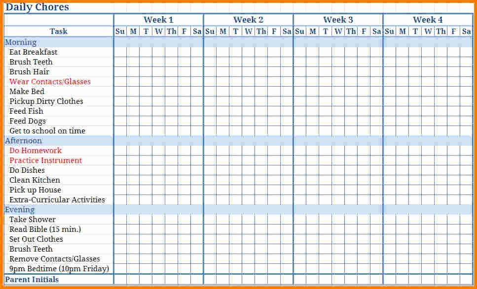 Chore Chart Maker Free Printable Chore Chart Maker Click