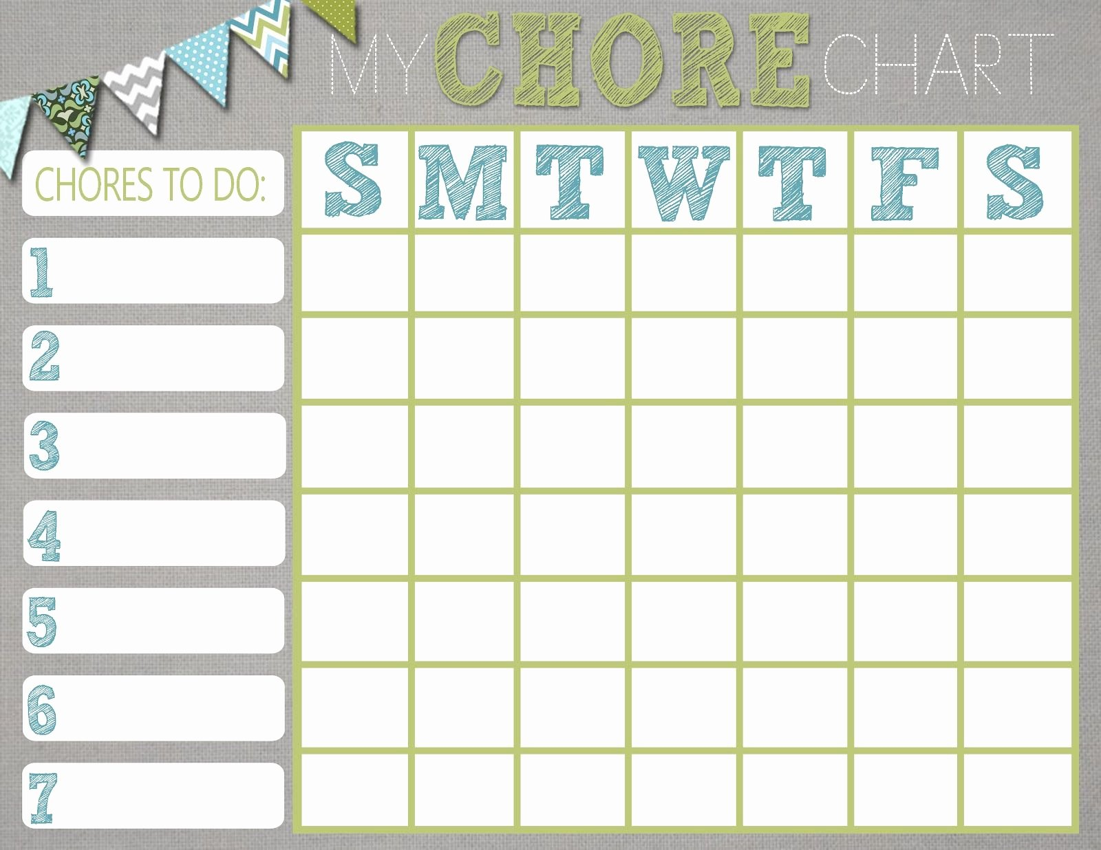 Chore Chart Template Google Search