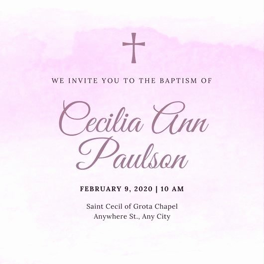 Christening Invitation Design Lds Baptism Program Template