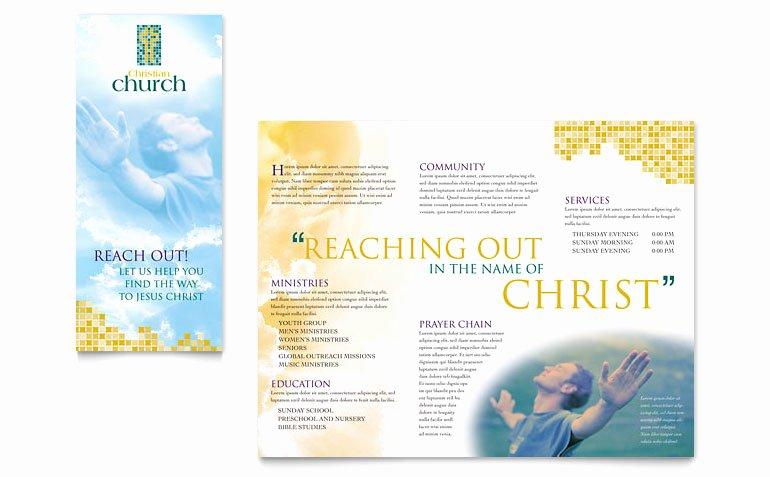 Christian Church Brochure Template Word & Publisher