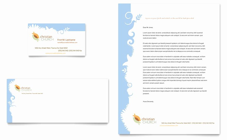 Christian Church Business Card & Letterhead Template