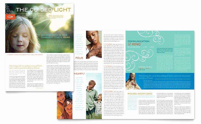 Christian Church Religious Newsletter Template Word