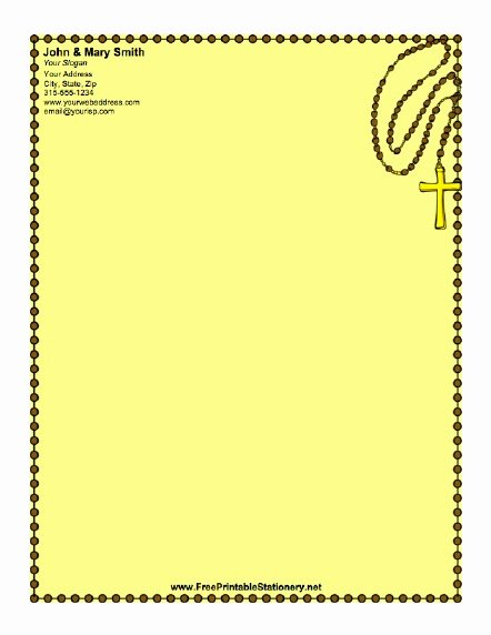 Christian Cross Stationery