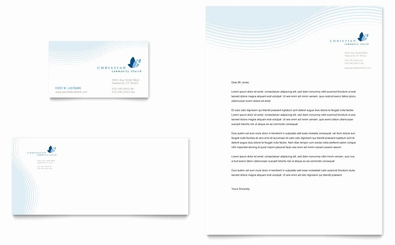 Christian Ministry Business Card & Letterhead Template
