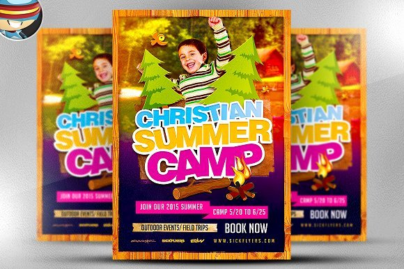 Christian Summer Camp Flyer Template Flyer Templates On