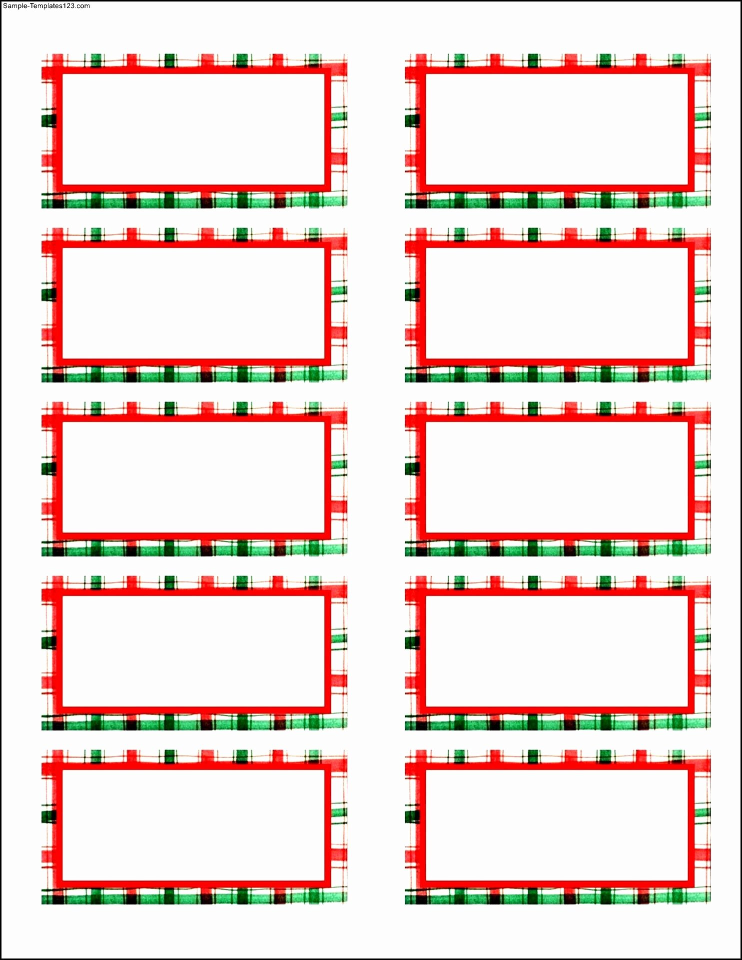 Christmas Address Label Templates Free – Fun for Christmas