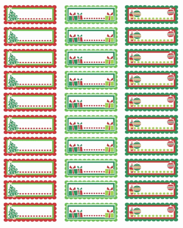 Christmas Address Labels Colorful Christmas Labels In A
