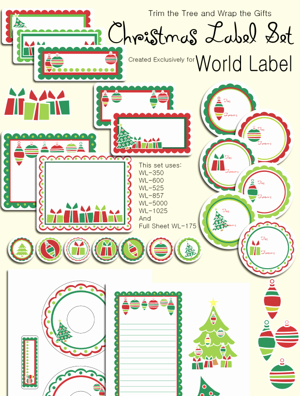Christmas Address Labels Templates – Happy Holidays