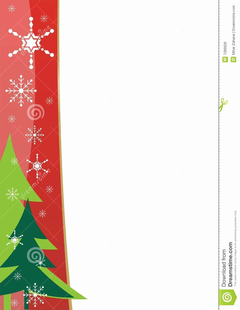 Christmas Border Template Stock Vector Image Of Drawing