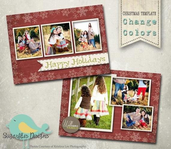 Christmas Card Photoshop Template Family Christmas Card Wish