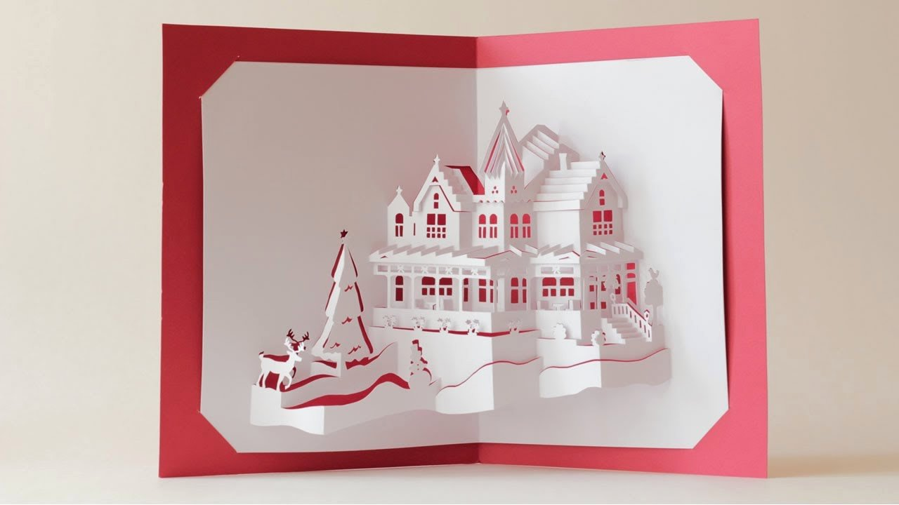 Christmas Card Pop Up Template
