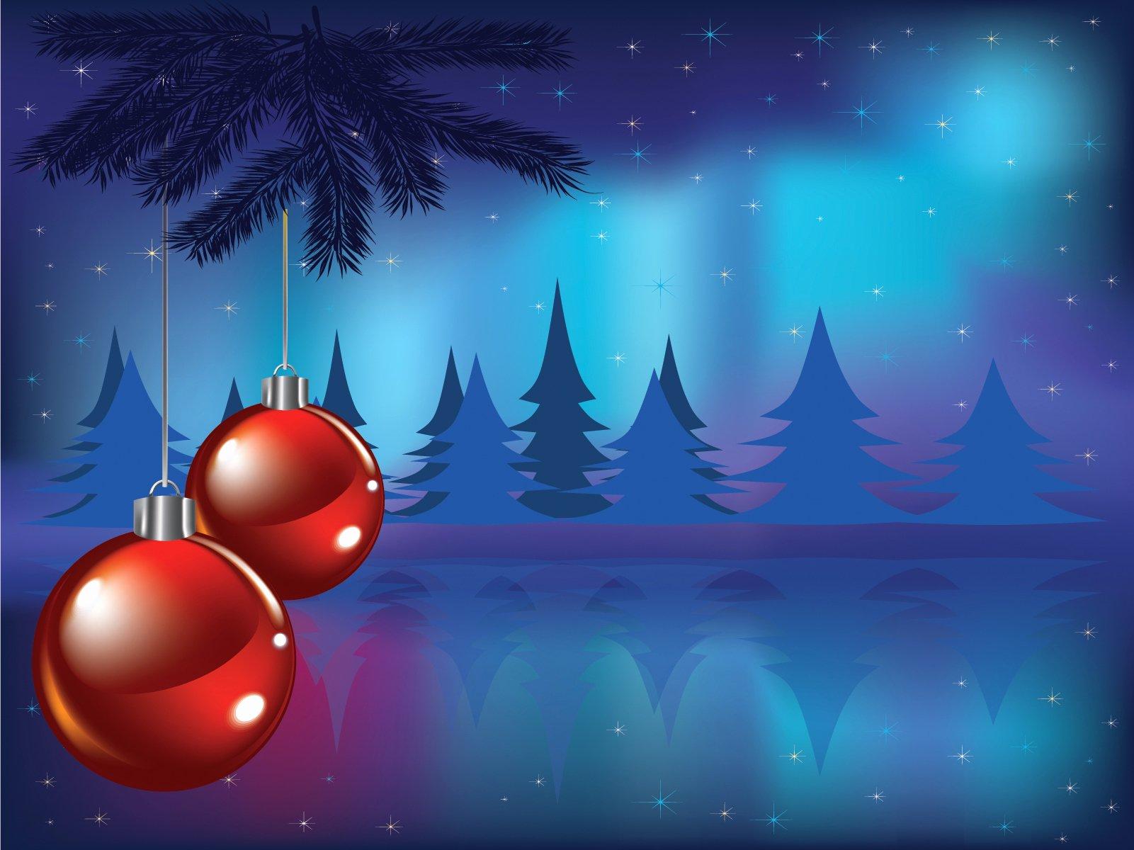 Christmas Card Powerpoint Templates Blue Christmas