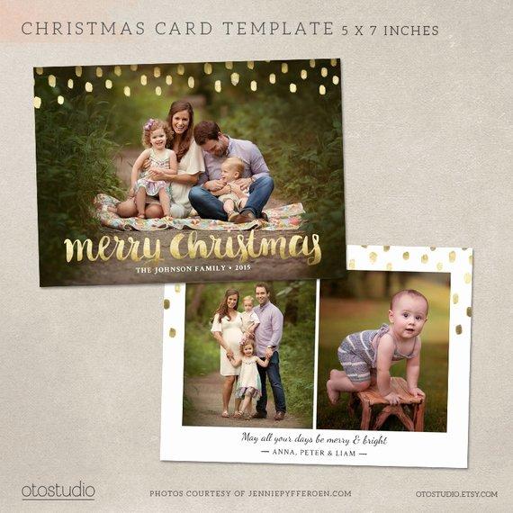 Christmas Card Template Shop Template 5x7 Flat Card