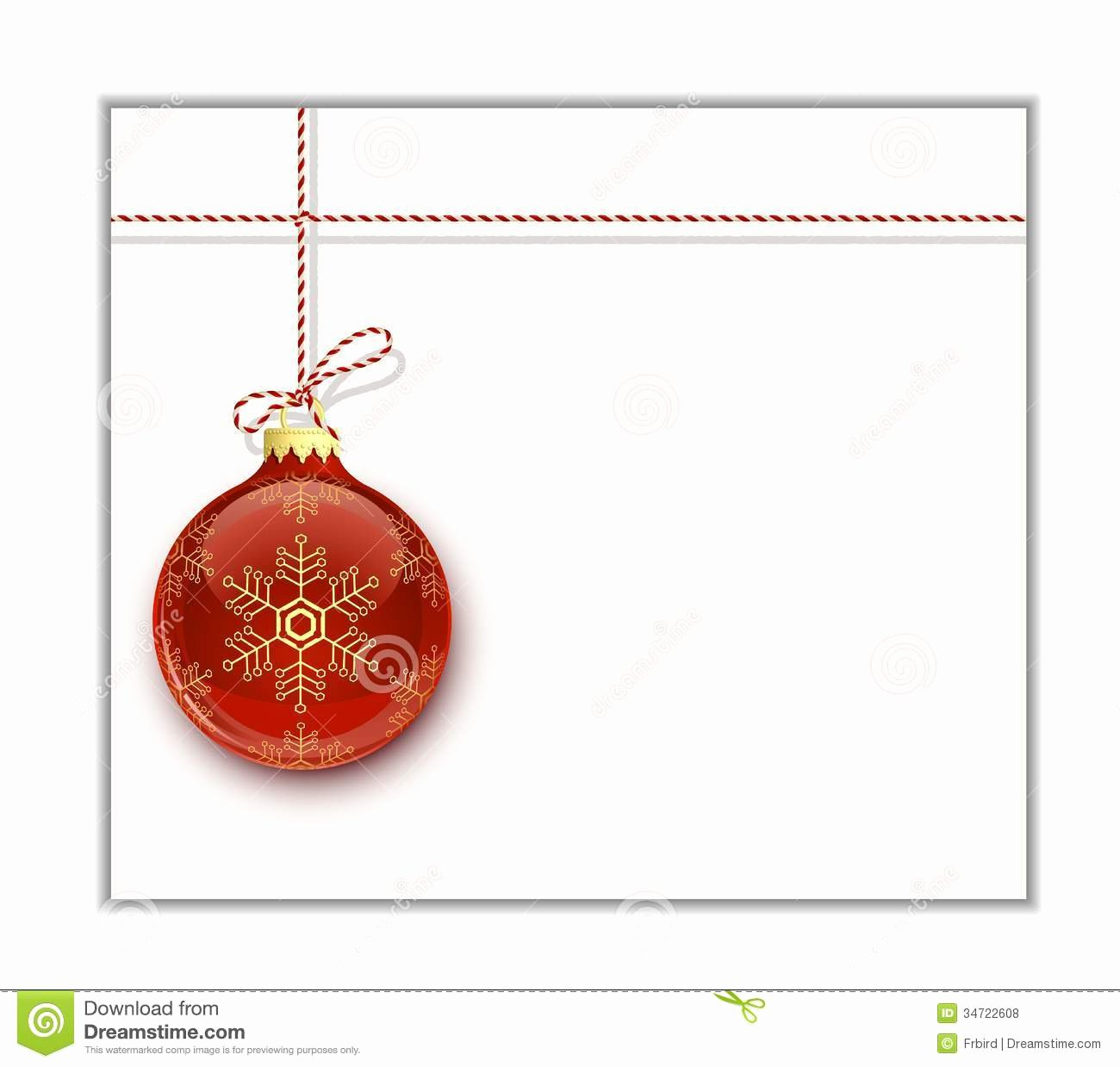 Christmas Card Template Stock Vector Image Of Clip
