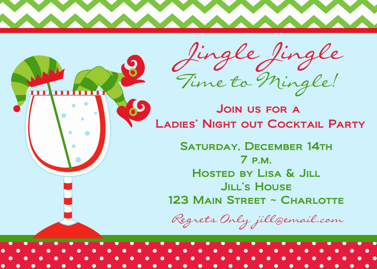 Christmas Cocktail Party Invitations Christmas Cocktail
