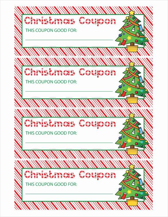 Christmas Coupon Template Coupon Template 4 Templates Data
