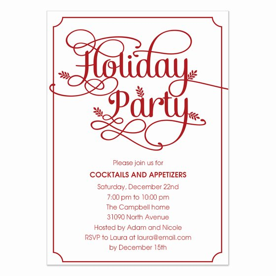Christmas Dinner Invitation Email Template – Fun for