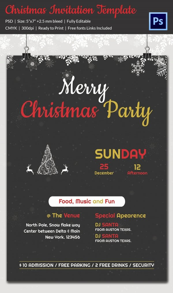 Christmas Dinner Invitation Templates for Free – Halloween