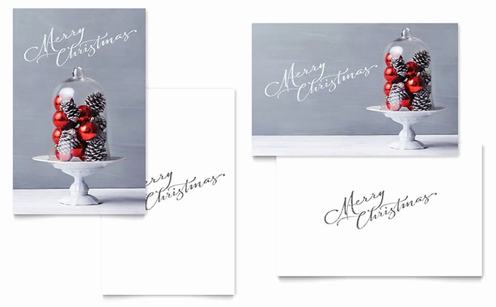 Christmas Display Greeting Card Template Word & Publisher
