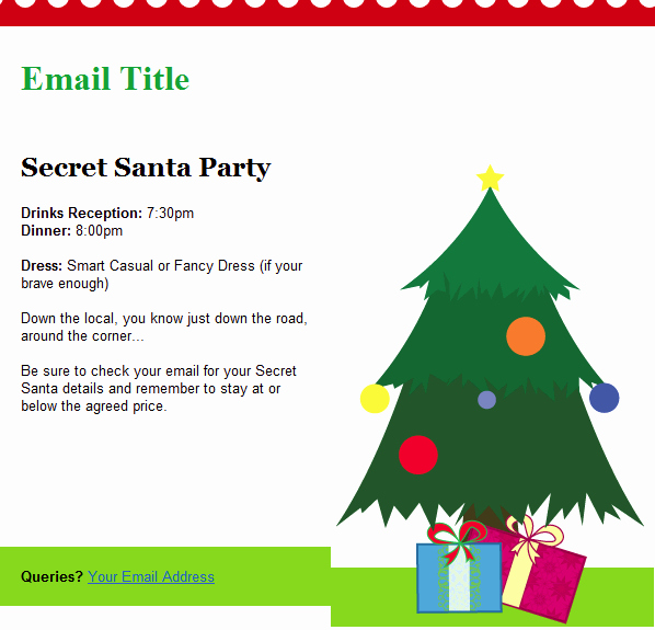 Christmas Email Templates Included with Groupmail