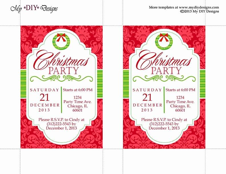 Christmas Fice Party Invitation Templates Invitation