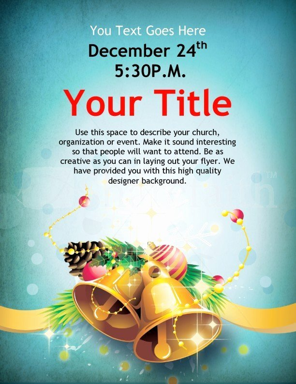 Christmas Flyer Template Free Publisher Templates