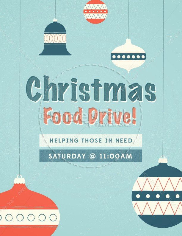 Christmas Food Drive Ministry Flyer Template