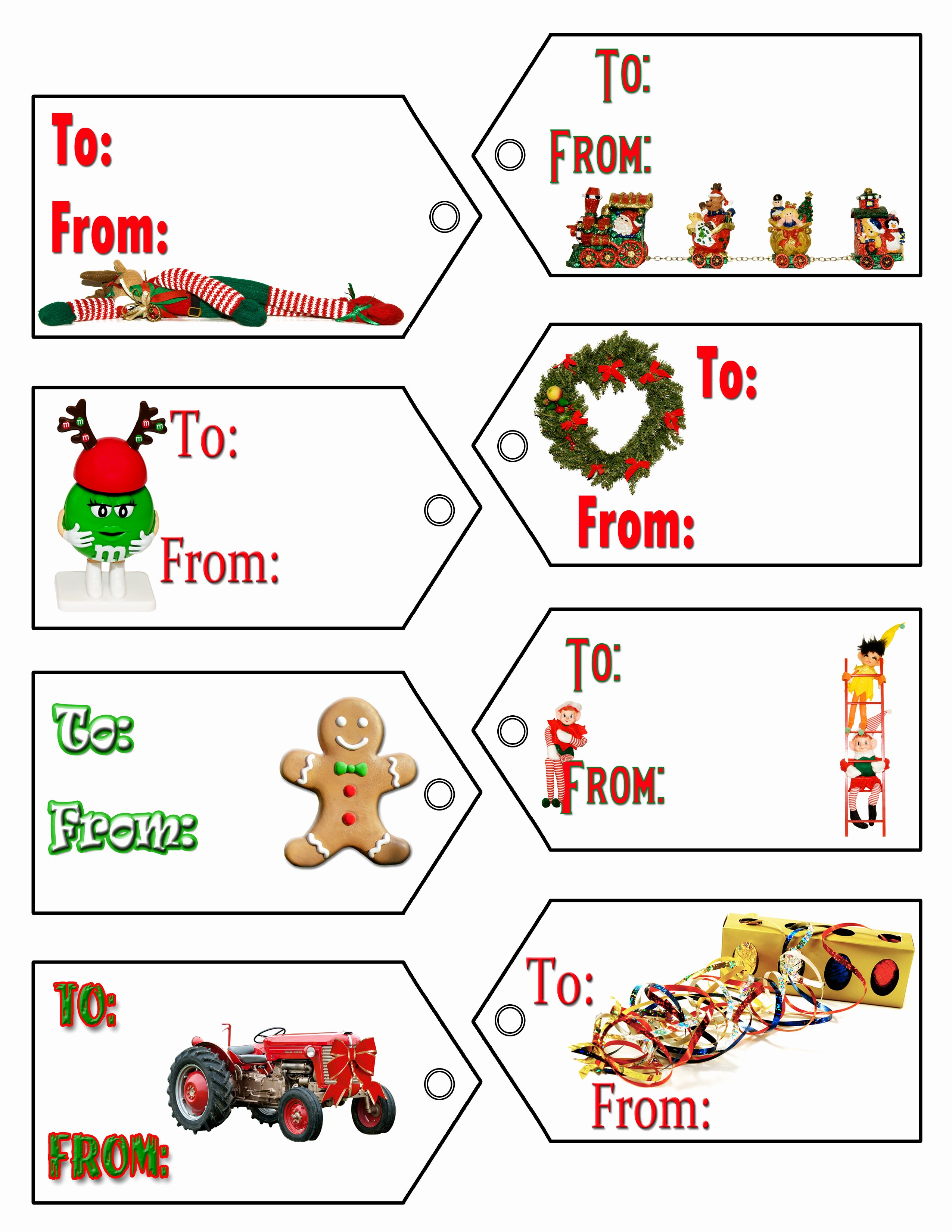 Christmas Gift Label Templates – Happy Holidays