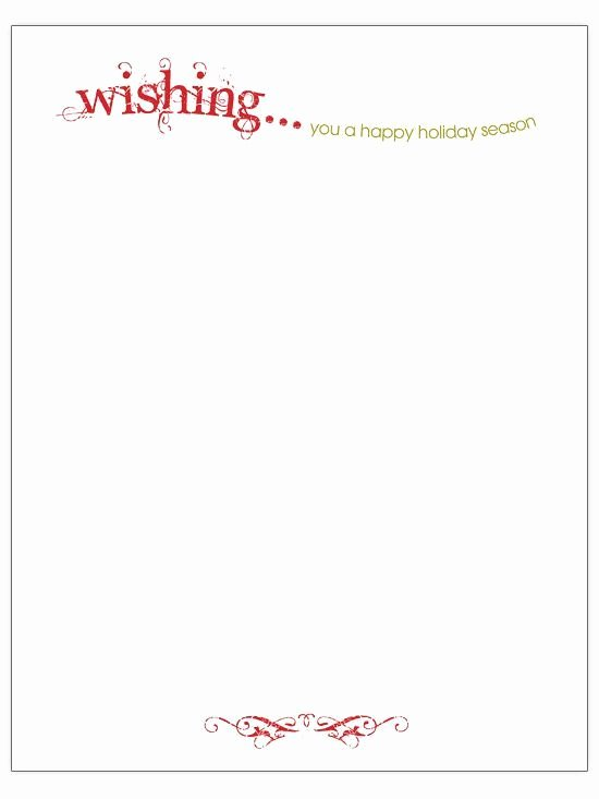 Christmas Holiday Letterhead Templates Templates