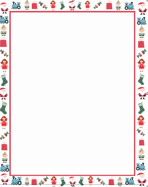 Christmas Letter Borders Free Printable