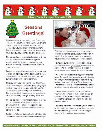 Christmas Letter Examples